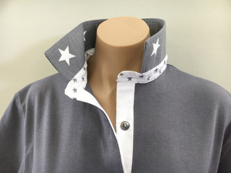 Ash Grey Rugby - Grey star trim
