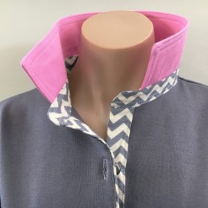 Ash Grey Rugby - Light pink & grey chevron