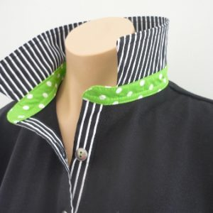 Black rugby - Classic black stripe and lime spot stand
