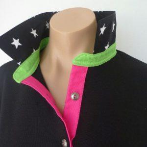 Black Rugby - Big black star, Lime & Hot pink