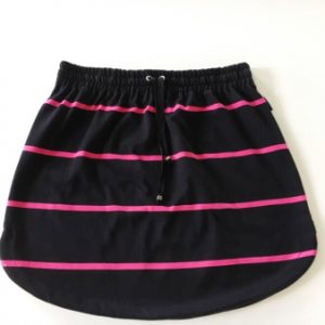 Womens Black & Pink stripe Rugby Skirt