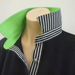 Black Rugby - Lime and classic black stripe