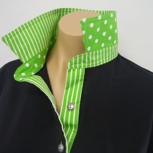 Black rugby - Lime green spot and stripe