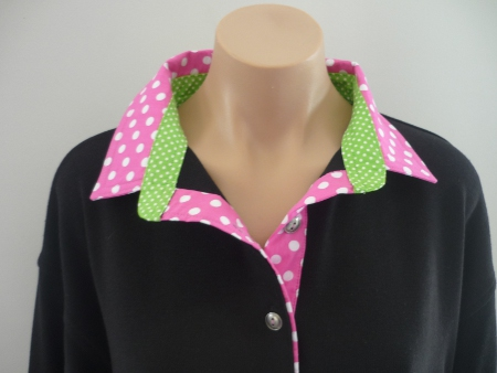 Black Rugby - Big candy spot with small lime spot collar stand