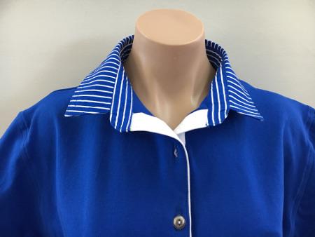 Cobalt Blue Rugby - cobalt stripe & white