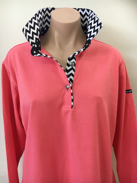 Coral Rugby - Black & white chevron