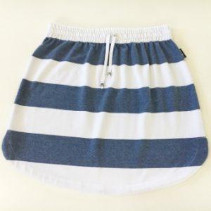 Womens Denim & White stripe rugby Skirt