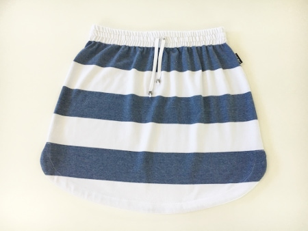 Womens Denim & White stripe rugby Skirt