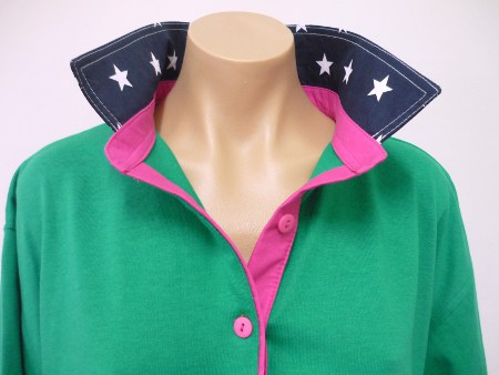 Emerald - navy star and hot pink