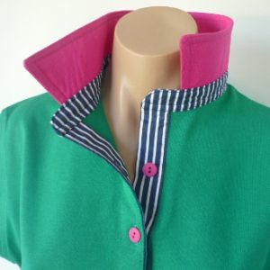 Emerald rugby - hot pink and navy stripe