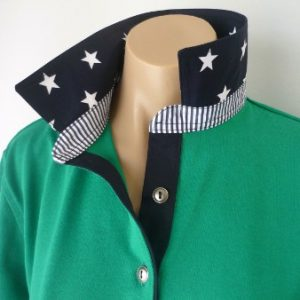 Emerald Rugby - Navy star and stripe trim