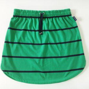 Womens Green & Navy stripe rugby Skirt