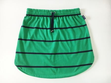 Womens Green & Navy stripe rugby Skirt