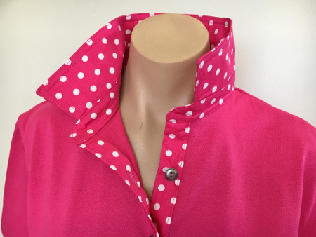 Pink rugby -Pink spotty trim