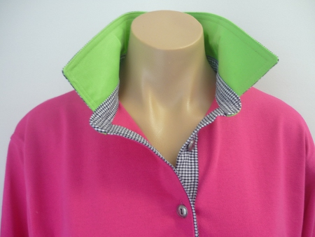 Pink rugby - Lime green & small navy check