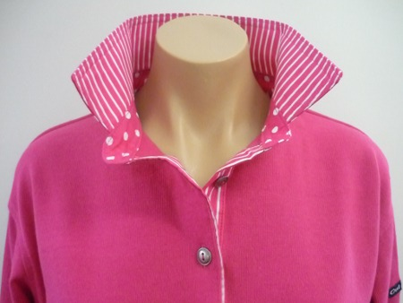 Hot pink rugby - Pink spot and stripe trim