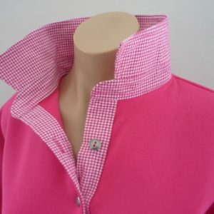 Hot pink rugby - Small pink check trim