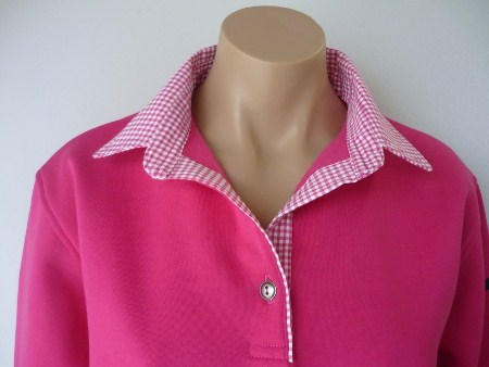 Pink rugby - Hot pink thick check