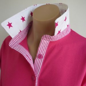 Hot pink rugby - Large white and pink star & stripe