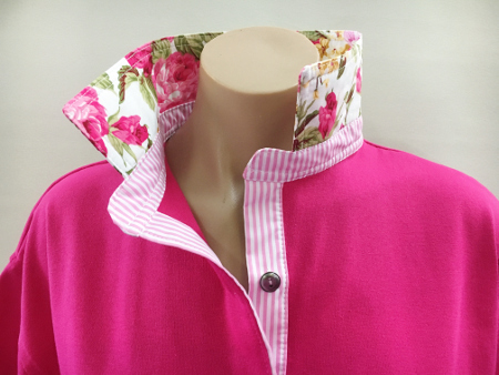 Hot pink Rugby - two pinks rose & stripe