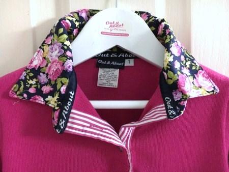 Pink kids Rugby - Navy floral & pink stripe