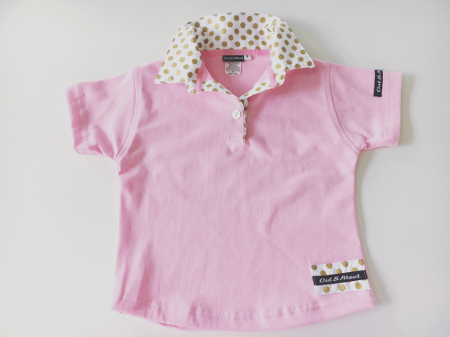 Girls Light pink Rugby - Gold spots