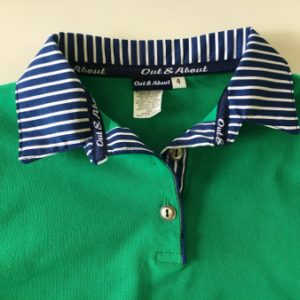 Kids mambo green Rugby - classic navy stripe