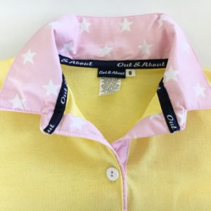 Sorbet Yellow Kids rugby - Pink star trim