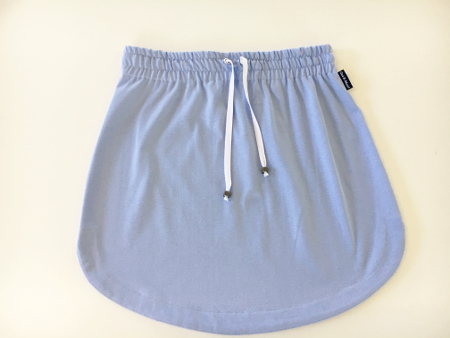 Womens Plain light blue rugby Skirt