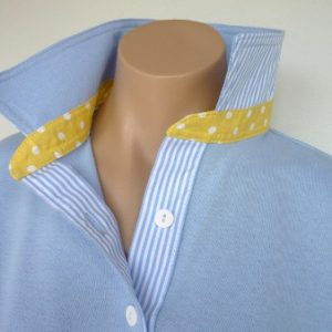 Light blue Rugby - Yellow spot & Lt blue stripe