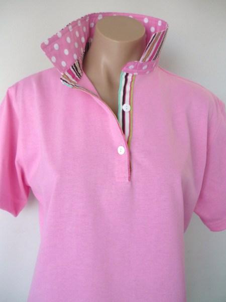 Light pink rugby - Matching pink spot & pink/mocha stripe
