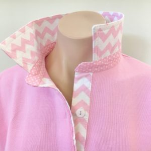 Light pink Rugby - Light pink chevron & spot