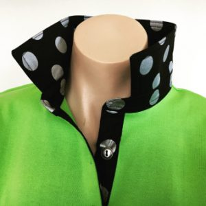 Lime rugby - Black with large silver spots