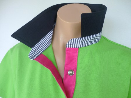 Lime rugby - Navy, stripe & hot pink trim