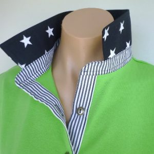 Lime rugby - Navy star & stripe