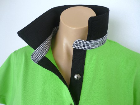 Lime rugby - Plain black & small black check stand
