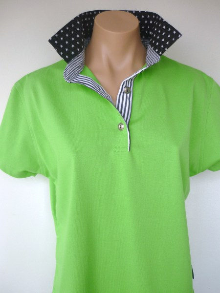 Lime Rugby - Small black star, check and stripe