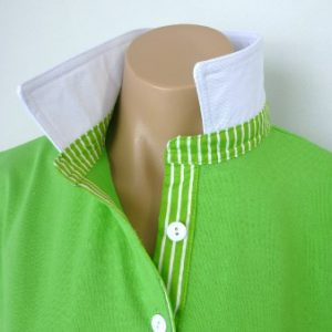 Lime rugby - Plain white & classic lime stripe
