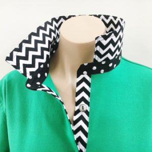 Mambo green Rugby - Black chevron & spot
