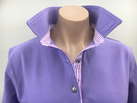 Mauve Rugby - purple stripe trim