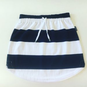 Womens Navy & White Stripe Rugby Skirt