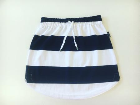 Womens Navy & White Stripe Rugby Skirt