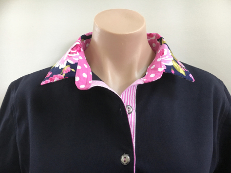 Navy Rugby - Candy rose, spot & stripe
