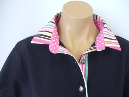 Navy rugby - Chocolate candy stripe & candy spot
