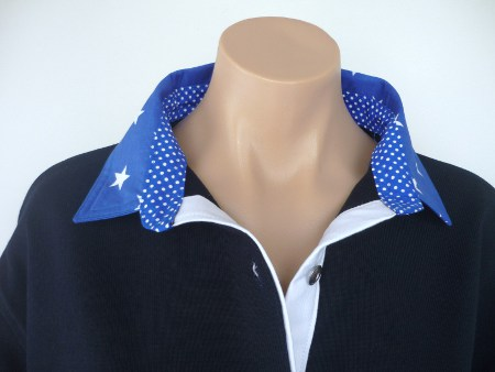 Navy rugby - Big cobalt star, small spot & white tab