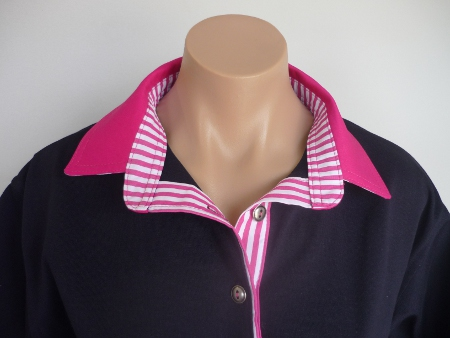 Navy rugby - Hot pink and Hot pink stripe
