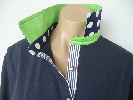 Navy Rugby - New lime, Big spot & stripe tab