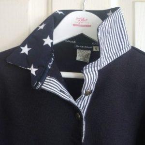 Kids Navy rugby - Big navy stars and thin navy stripe