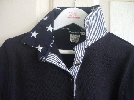Kids Navy rugby - Big navy stars and thin navy stripe
