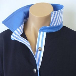 Navy Rugby - Plain sky blue & matching wide stripe